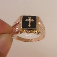 Free shipping. Cross Crystal 18K GP Rose Gold Ring.Can mix build