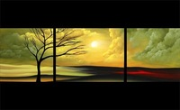 Free shipping/Hand-painted  Landscape Group Oil Painting on Canvas wall art/High Quality/New Design/sa-511