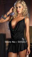 black white Charming halter women maix dress DEEP V sexy party dress lingeries wholesale DROP free shipping MN20