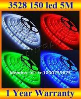 3528 led strip, 5M 16FT 3528 SMD 150 LEDs 100M/lot flexible led strip light white/red/green/blue/yellow + DHL FREE SHIPPING