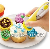 Free Shipping 12pcs, Battery-Powered Frosting Deco Pen Cupcake Decorating Cakes,as seen on TV