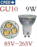 Dimmable LED GU10 9W 3x3W LED Spot Light Bulb Spotlight spot lamp Downlight 600lm