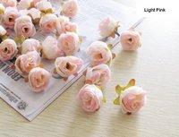 Free Shipping diameter 2.5cm, moq is100pcs,  Simulation Wedding Decoration Various Colors Mini Rose Flower Head
