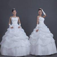 Free Shipping! Custom Made Newest Design Fashion Three Layer Ball Gown Bride Princess Wedding Dress