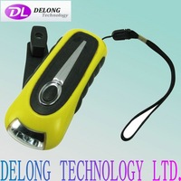 Emergency dynamo torch with led and mobile phone port