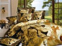 Hot Beautiful 4PC 100% COTTON COMFORTER DUVET DOONA COVER SET QUEEN / KING SIZE bedding set 4pc Golden tiger
