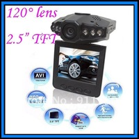 Car camera DVR record 140 degree wide-angle 2.4 Inch TFT LCD HD night vision HD 720P, motion detect, AVI video playback F198A