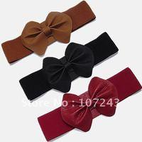 Free shipping,wholeale,10pcs/pack,Women's bow belt,female elastic strap,skirt accessories waistbelt, hot selling