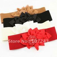 Free shipping,wholesale,10pcs/pack,All-match flower cummerbund,fashion decoration waistbelt,elastic strap