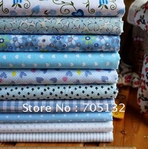 20*30cm 45pcs 9 assorted prints cotton quilt patchwork  fabric DIY crafts home textile
