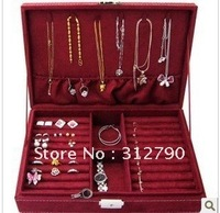 By CHINA POST-- Display box for jewelery, Purple,red,pink color,