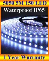 12V/24V waterproof led strip 5050 RGB SMD 5M 16FT 150 LED IP65 50M/lot,RGB/Red/green/blue/yellow/white/warm + FREE SHIPPING