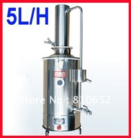 Free shipping Stainless water distiller Distilled water purifier machine 5L/H