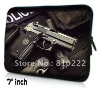 "Cool gun 7""-8.2"" inch rainproof  laptop tablet PC ebook sleeve case bag-004,free shipping,wholesale/mixorder/dropship/retail"