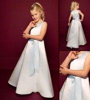 2012 wholesale Flower Gril Dresses !fashion Off-the-shoulder ankle length cute girls Party Dresses Communion Dresses