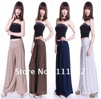 2012 new spring and summer brocade wide leg pants culottes leisure long pants