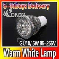 85-265V GU10 5W LED Bulb Power Energy Saving Spot Light Lighting Warm White Lamp Free shipping