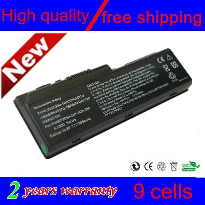 Long life new 9 CELL Laptop Battery For Toshiba PA3537U-1BAS PA3537U-1BRS PABAS100 PABAS101 black FREE SHIPPING(China (Mainland))