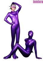 Low Price Zero Profits Promote Sales Just For One Mounth Unisex Unicolor Shiny Metallic Fullbody Zentai Costume