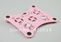 Hello Kitty USB Laptop Cooling Fan, Notebook Cooling Pad Three fans with Blue lights