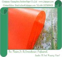 24gsm Orange Red Color Translucent Paper