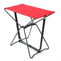 FREE SHIPPING Can fit into a pocket of folding chairs fishing steel pipe leisure portable folding stool