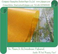 24gsm Deep Yellow Color Glassine Paper