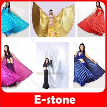 Free Shipping Egyptian Egypt Belly Dance Dancing Costume Isis Wings Dance Wear Wing 6 Color to choose