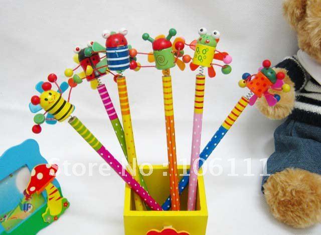 Freeshipping toptan kalemler çocuk favori arılar fan ahşap