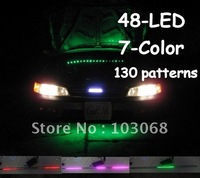 New 7-Color 5050 LED Knight Rider Strip Light Under Hood Scanning + Remote Waterproof Flexible 130 Patterns
