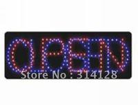 LED open sign (model NO:HSO0008) 206LED (R:91pcs; B:115pcs) 3PCS