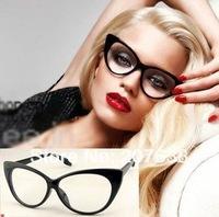 Sexy vanguard cat's eye style women sunglasses eyeglasses plain glasses frame  +free shipping