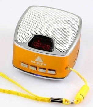 wholesale 100pcs Original Hi-Rice Newest portable Mini Speaker Sd-815 TF&USB+FM+Dispaly+flash light