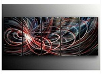 Contemporary Abstract Hand Painted Metal Wall Sculpture Office Home Art VM106