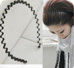 Fashion Simple Cheap Black Plastic Hairbands A2R26