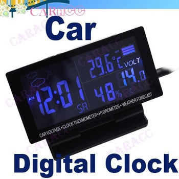 New LCD Display Car clock with Hygrometer Thermometer Digital Automotive Weather Forecast 2125