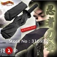 Free shipping Retail 1 piece, 3 folding Samurai Manual Umbrella with high quality