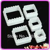 Free Shipping 3sets/lot Square And Wave Shape Cutter Sugarcraft Cake Decorating Modelling Tool