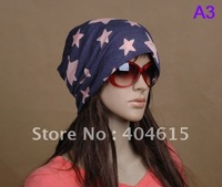 Wholesale & mixed order newest  headwear,25pcs men / women's summer printed cotton knitted leisure beanie hats