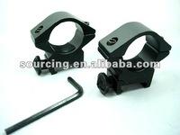 2x Low Scope Mount 25mm Ring Fit 22mm 20mm Weaver Rail (MR13)