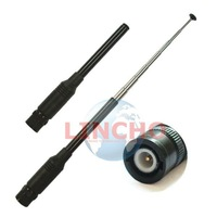 10 pcs sales 773 Telescopic vhf uhf dual band portable radio antenna, amateur radio antenna BNC connector
