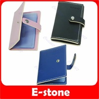 Free Shipping Lovely Woman PU Leather Business Credit ID Card Holder Purse Wallet Pocket