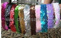 1'' sequin stretch headband softball sport hair band for girls fashion headbands