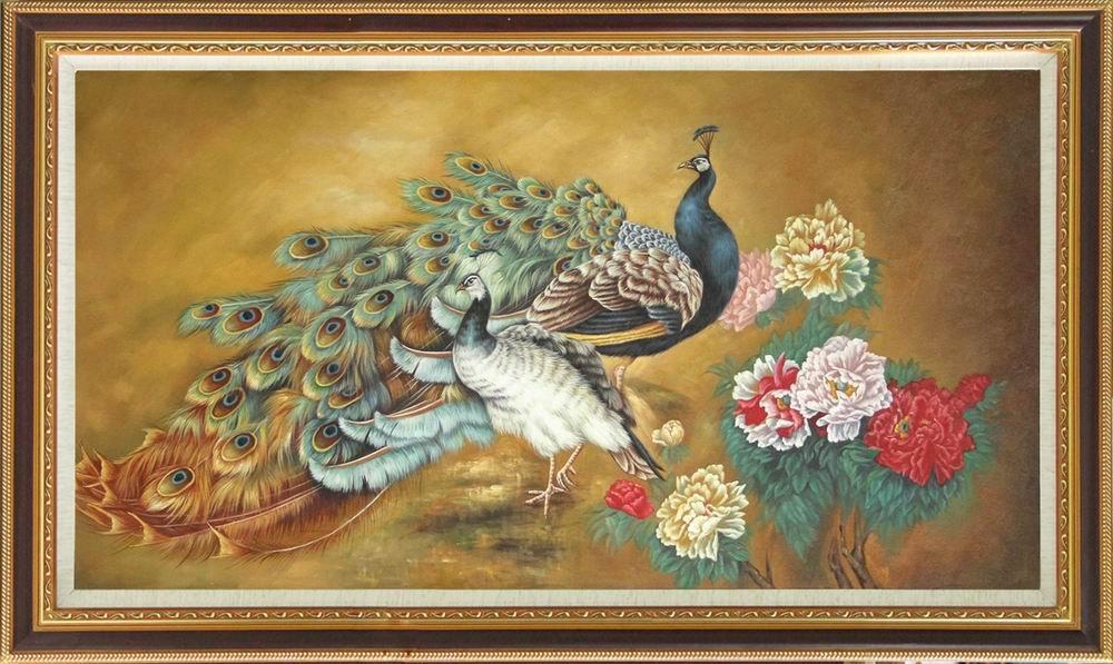 transporte livre! Pavão moderno da alta qualidade   Pintura a óleo em pinturas a óleo do grupo da arte da lona