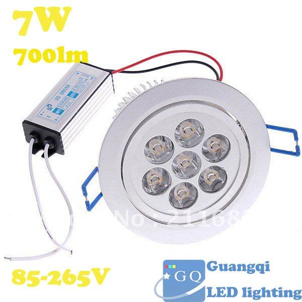 5W 85-265V 450LM LED Ceiling Light LED Bulb Warm White/White Light led Downlight Lamp Spotlight Free Shipping