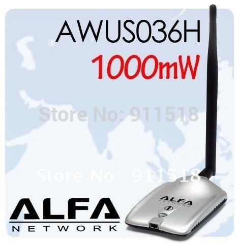Alfa 1000mW USB Wireless-G Adapter AWUS036H LONG RANGE(China (Mainland))