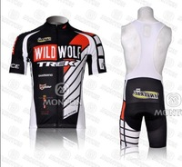 Free shipping2012  TREK team Black White clothing Bicycle Cycling Wear bike Cycling Jersey+ Bibs Shorts suit