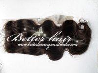 Pure brazilian hair lace top closure Accept custom made