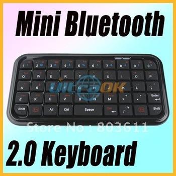 Mini Slim pocket Wireless Bluetooth Keyboard For computer Smart Phone black new free shipping