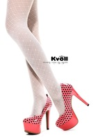 Kvoll Sexy Patent Leather Platform Pumps Women's Fashion Evening High Heels Shoes Beige/Red Candy Color Size eur34-40 D58385